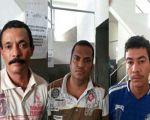 Maurício, Ivanilson e Valdemir foram presos na operação em São José da Laje (Foto: ASCOM/PC)